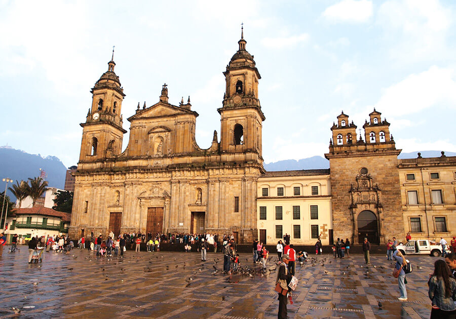 Cathedral Square in Bogota Colombia