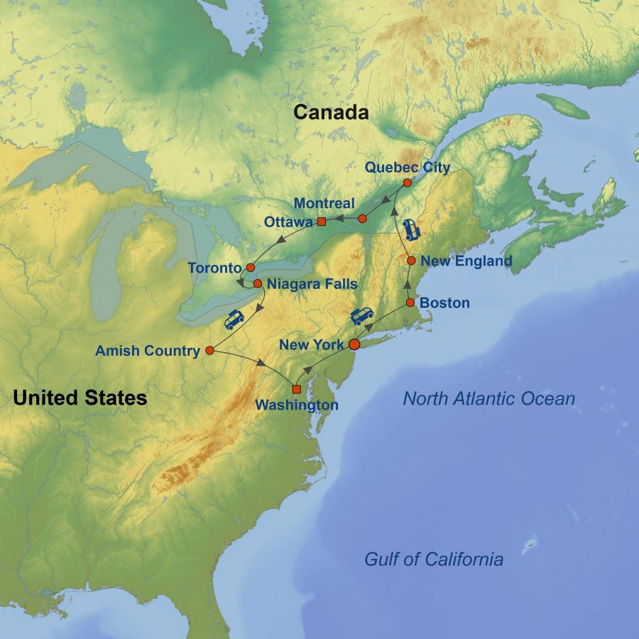 Discover Eastern US and Canada
