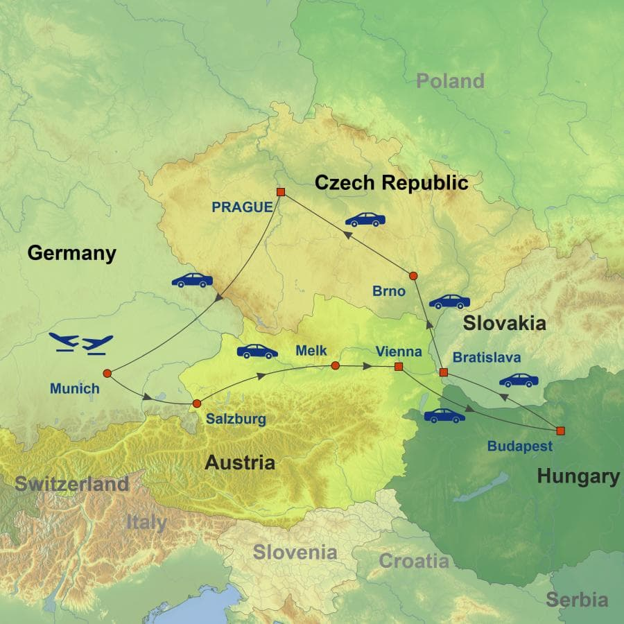 The Best of Central Europe Self-Drive