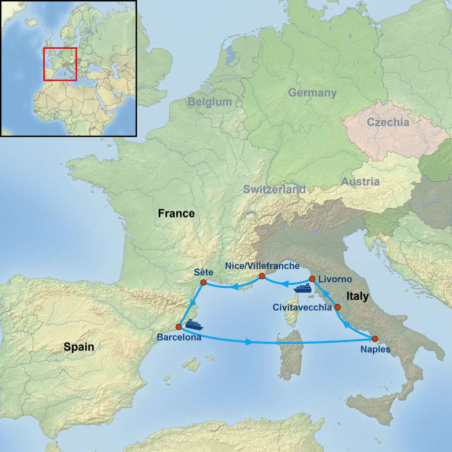 Five Wonders of the Mediterranean Cruise with YWRCC