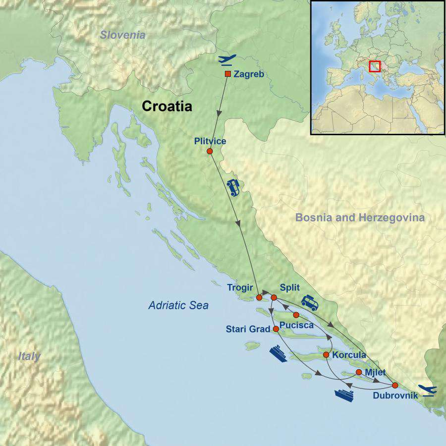 New Delightful Croatia: Land & Cruise