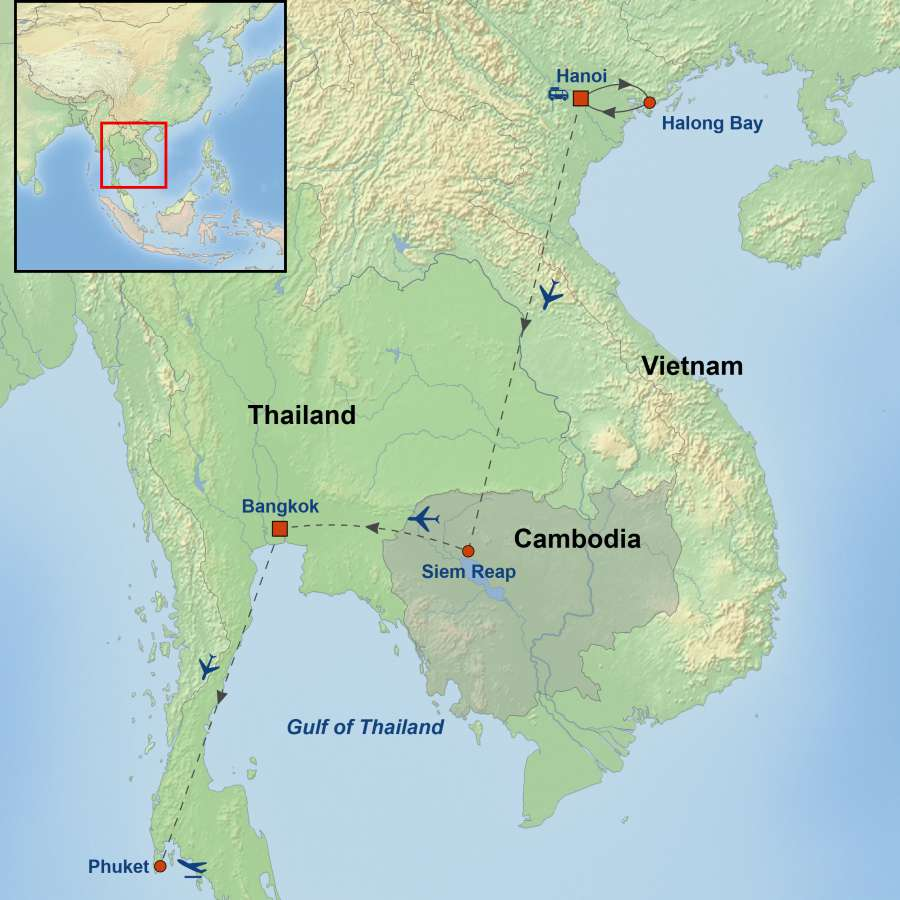 Essential Vietnam, Cambodia and Thailand With Didsbury And District Chamber of Commerce