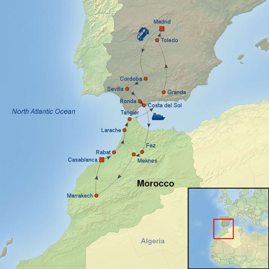 Marvels Of Spain And Morocco