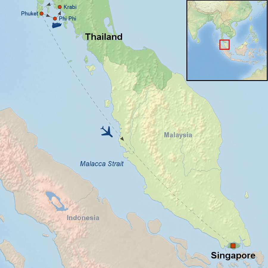 Islands Of Thailand And Singapore