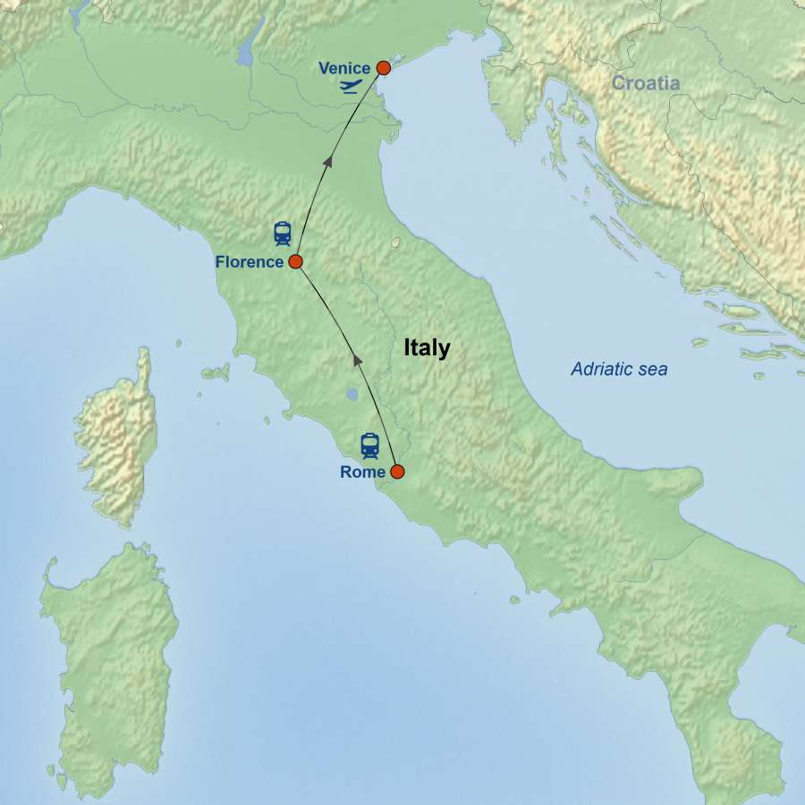 Rome, Florence & Venice By Rail